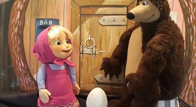 Figurentheater Das Bilderbuchtheater zeigt Mascha und der Bär im JuZ Leer